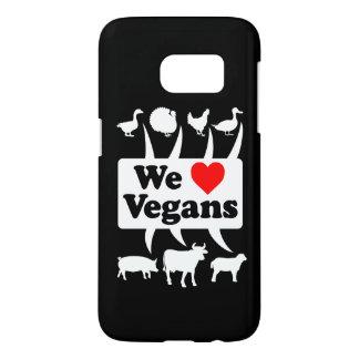 We love Vegans II (wht) Samsung Galaxy S7 Case