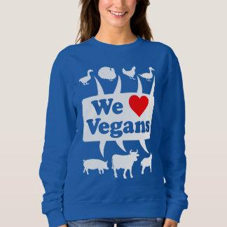 We love Vegans II (wht) Sweatshirt