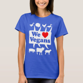 We love Vegans II (wht) T-Shirt