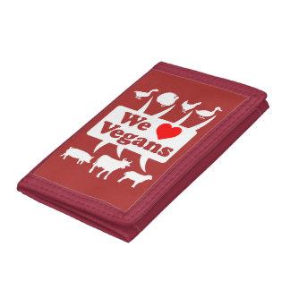 We love Vegans II (wht) Tri-fold Wallet