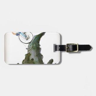we love yorkshire born and bred luggage tag