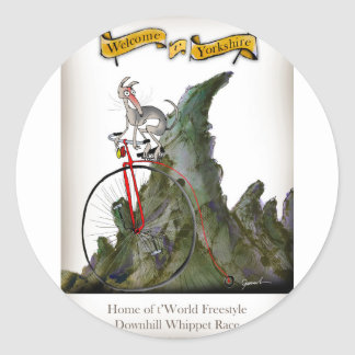 we love yorkshire downhill whippet race classic round sticker