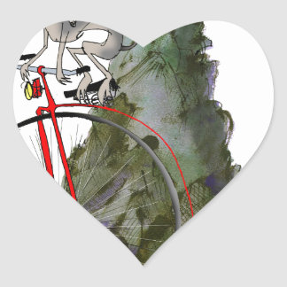 we love yorkshire downhill whippet race heart sticker