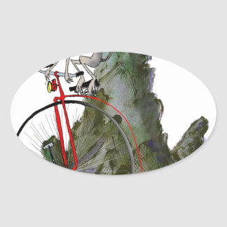 we love yorkshire downhill whippet race oval sticker