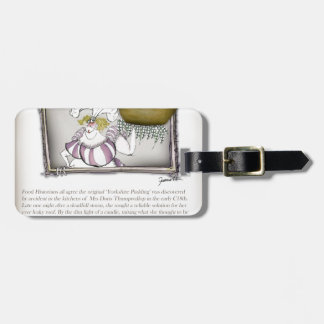 we love yorkshire pudding history luggage tag