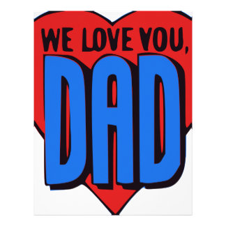 We Love You Dad Letterhead Template