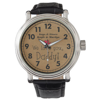 We love you, Daddy Personalized Watch