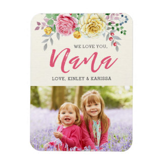 We Love You Nana | Photo Magnet