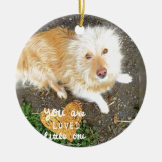 We Love You Sarah Dog Ceramic Ornament