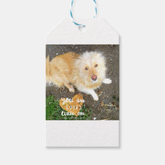 We Love You Sarah Dog Gift Tags