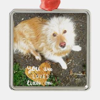 We Love You Sarah Dog Metal Ornament