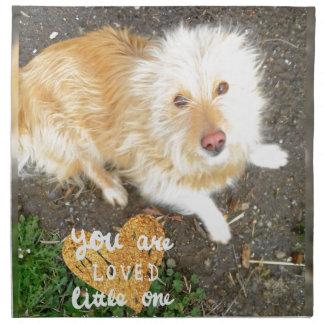 We Love You Sarah Dog Napkin