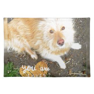 We Love You Sarah Dog Placemat