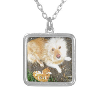 We Love You Sarah Dog Silver Plated Necklace
