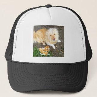 We Love You Sarah Dog Trucker Hat