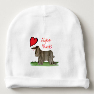 we luv afghan hounds from tony fernandes baby beanie