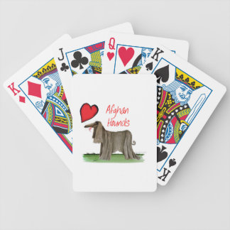 we luv afghan hounds from tony fernandes bicycle playing cards