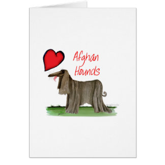 we luv afghan hounds from tony fernandes card