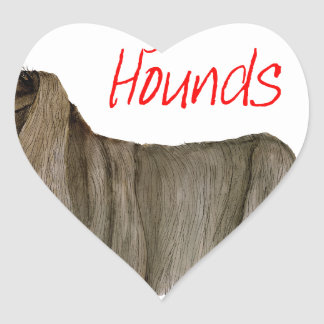 we luv afghan hounds from tony fernandes heart sticker