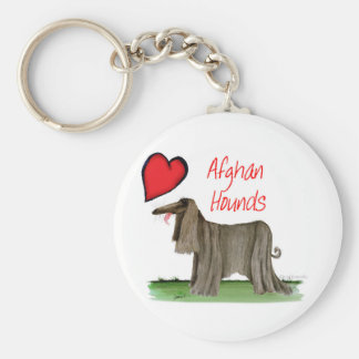 we luv afghan hounds from tony fernandes keychain