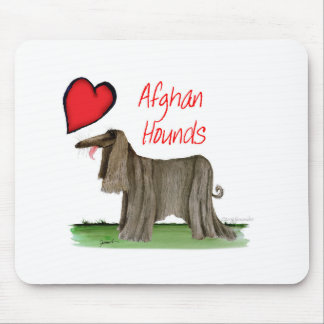 we luv afghan hounds from tony fernandes mouse pad