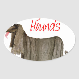 we luv afghan hounds from tony fernandes oval sticker