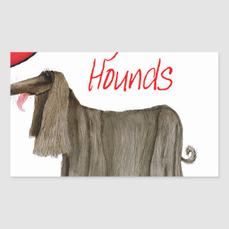 we luv afghan hounds from tony fernandes sticker
