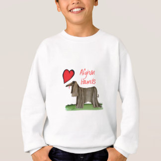 we luv afghan hounds from tony fernandes sweatshirt