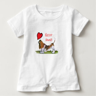 we luv basset hounds from tony fernandes baby romper