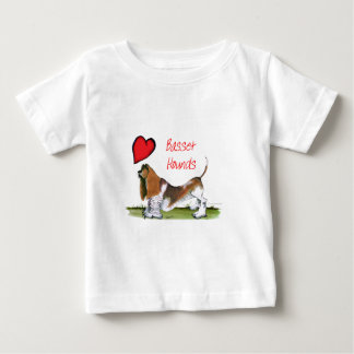 we luv basset hounds from tony fernandes baby T-Shirt