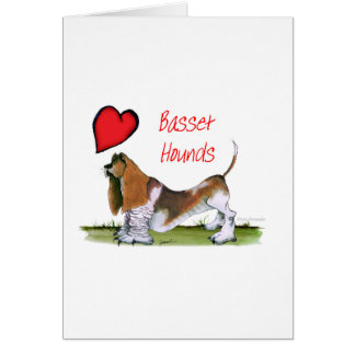 we luv basset hounds from tony fernandes card