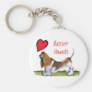 we luv basset hounds from tony fernandes keychain