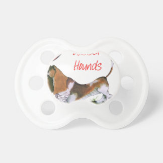we luv basset hounds from tony fernandes pacifiers