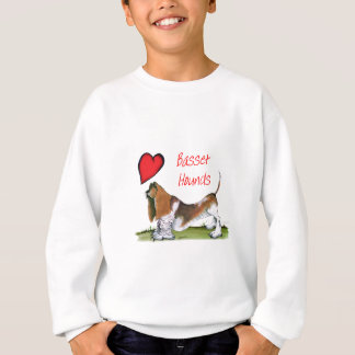 we luv basset hounds from tony fernandes sweatshirt