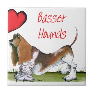 we luv basset hounds from tony fernandes tile