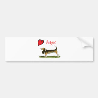 we luv beagles from tony fernandes bumper sticker