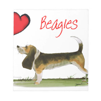 we luv beagles from tony fernandes notepads