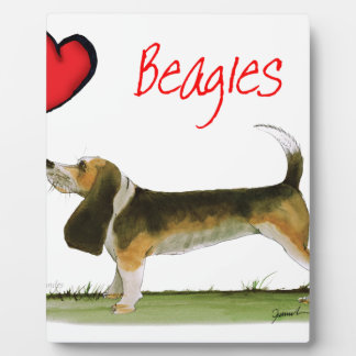 we luv beagles from tony fernandes plaque