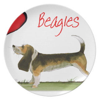 we luv beagles from tony fernandes plate