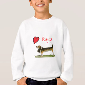 we luv beagles from tony fernandes sweatshirt