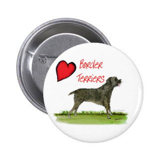 we luv border terriers from tony fernandes 2 inch round button