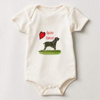 we luv border terriers from tony fernandes baby bodysuit