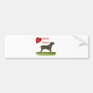 we luv border terriers from tony fernandes bumper sticker