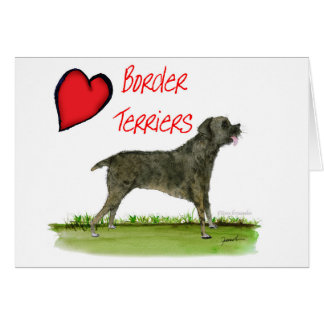we luv border terriers from tony fernandes card