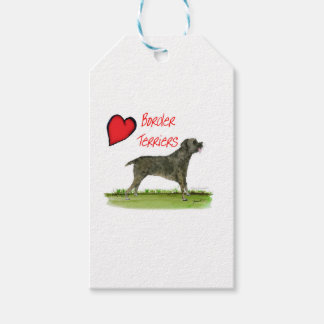 we luv border terriers from tony fernandes gift tags