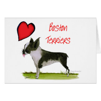we luv boston terriers from tony fernandes card