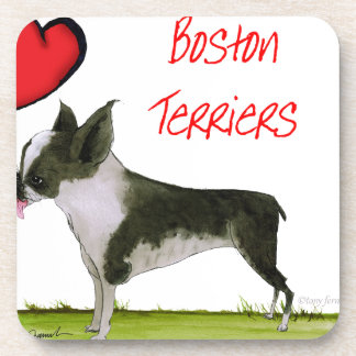 we luv boston terriers from tony fernandes coaster