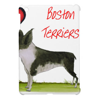 we luv boston terriers from tony fernandes iPad mini case