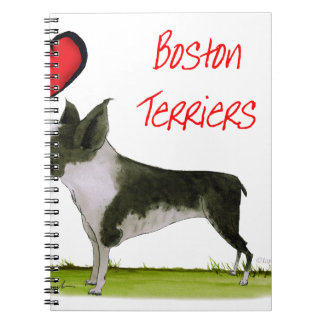 we luv boston terriers from tony fernandes notebooks
