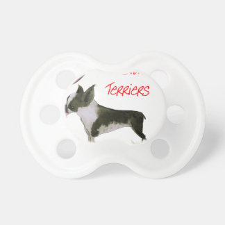 we luv boston terriers from tony fernandes pacifier